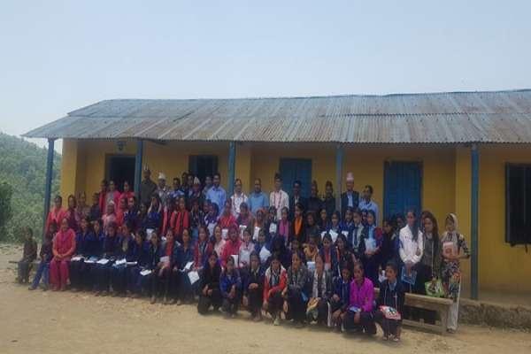 बिद्यालयमै निर्माण गरेर सेनेटरी प्याड वितरण गर्ने पहिलो सामुदायिक बिद्यालय